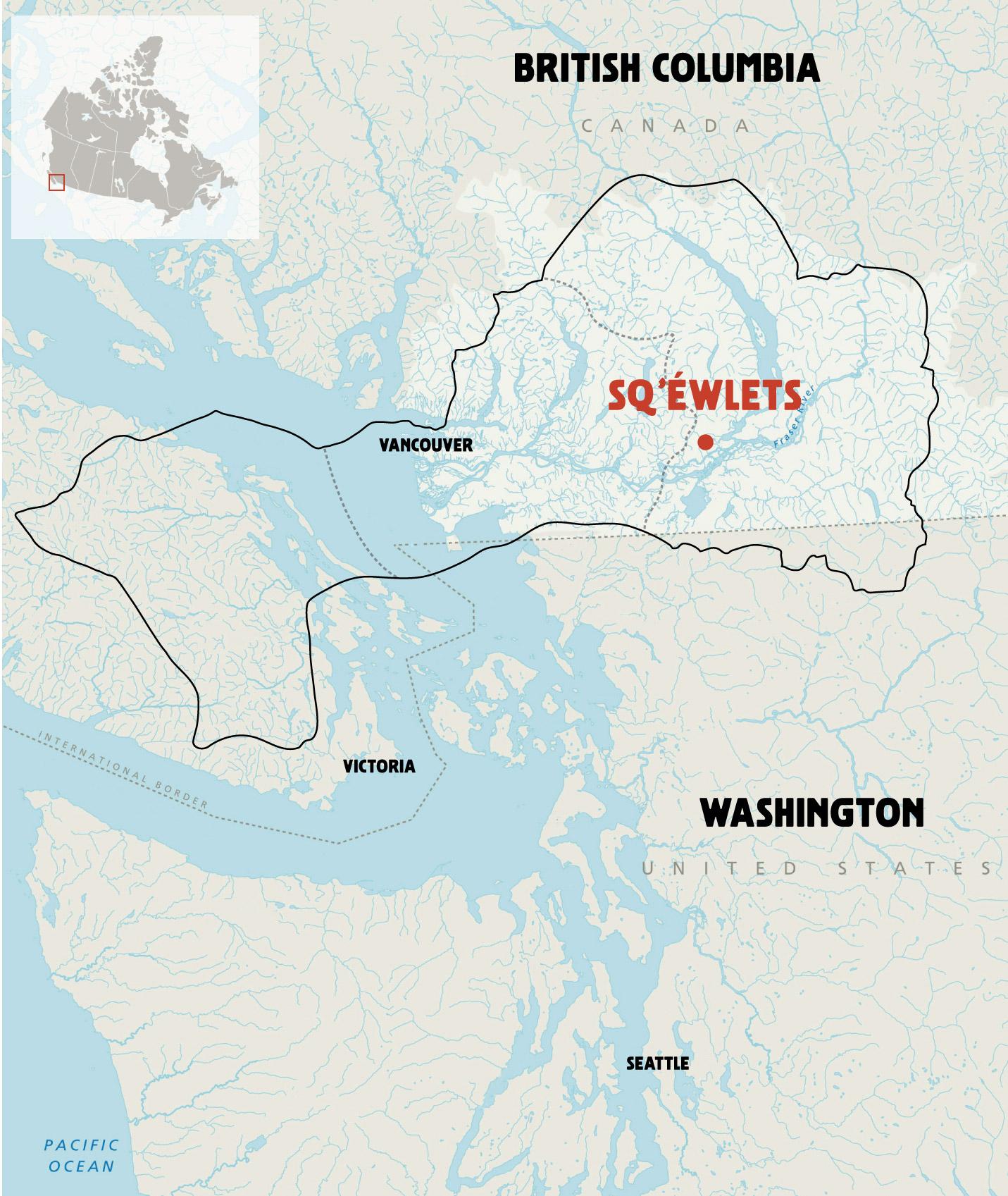 Maps Stámés Sqéwlets A StólōCoast Salish Community In The - Map of north america vancouver